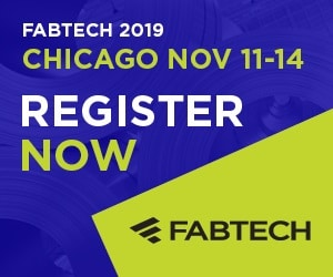 Join us at FABTECH 2019 in Chicago – Nov 11-14